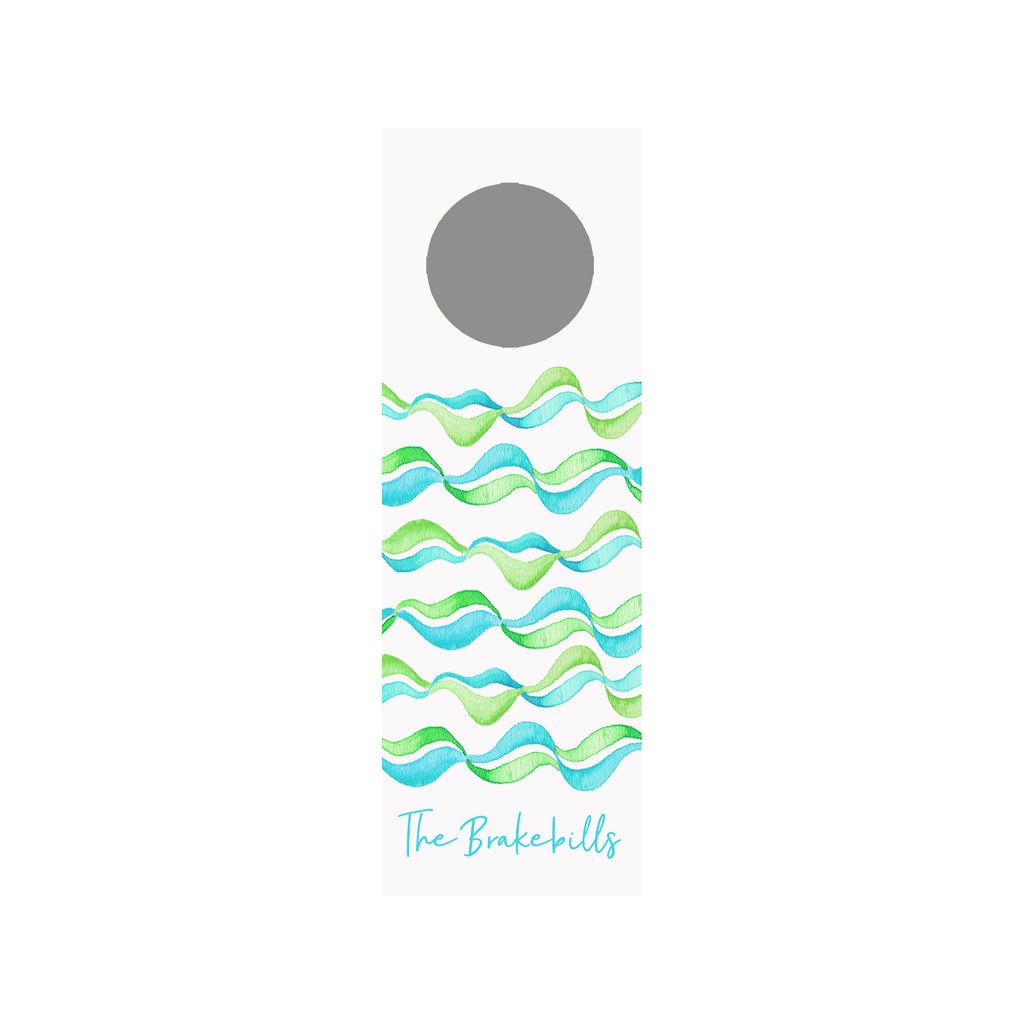 Poolside Personalized Wine Tag