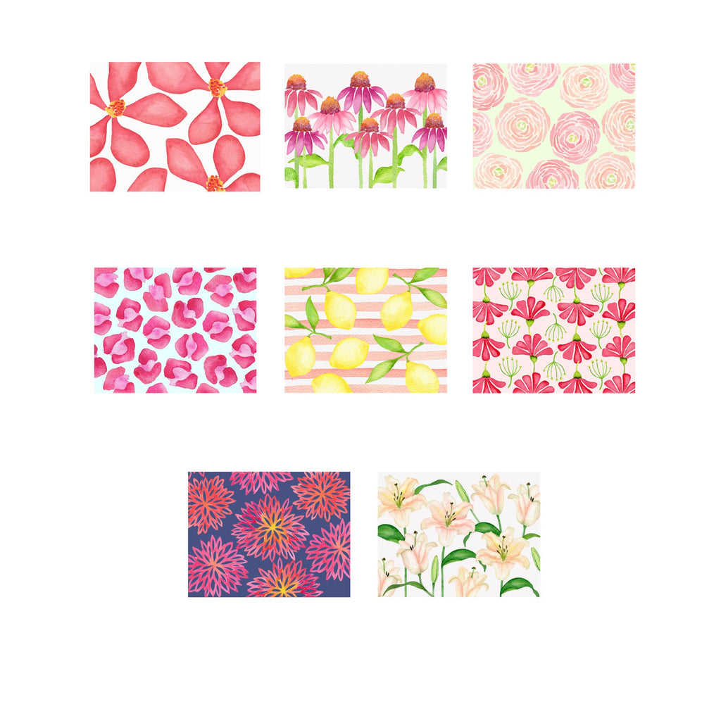 Pretty in Pink- Assorted Foldover Note Cards