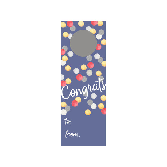 Celebratory Dots Wine Tag