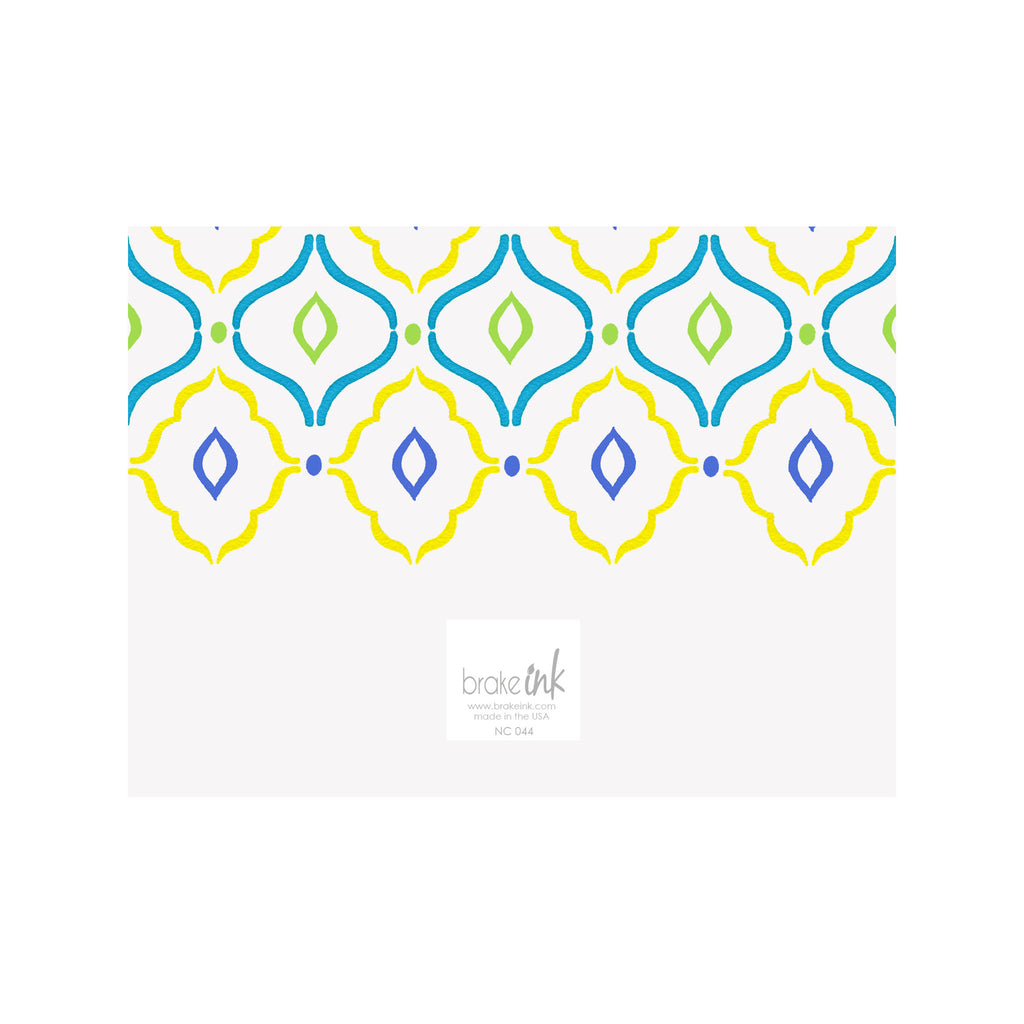 Quatrefoil Note Cards- Yellow