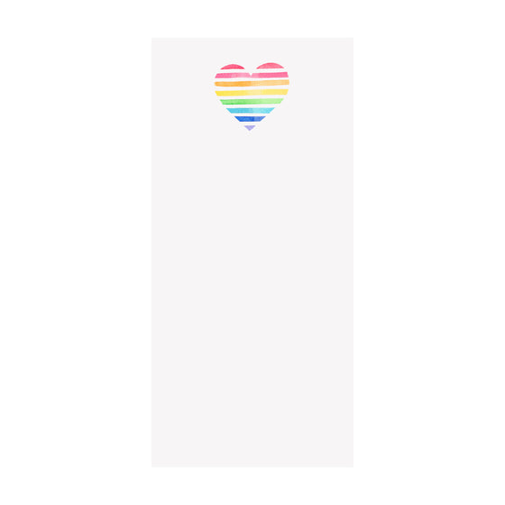 Rainbow Heart Notepad
