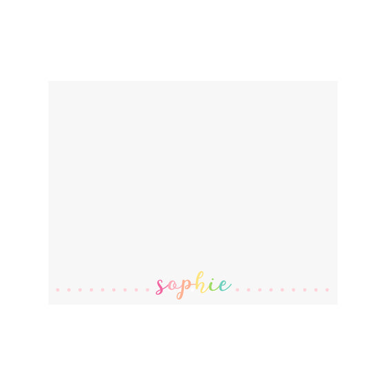 Rainbow Script Name Stationery