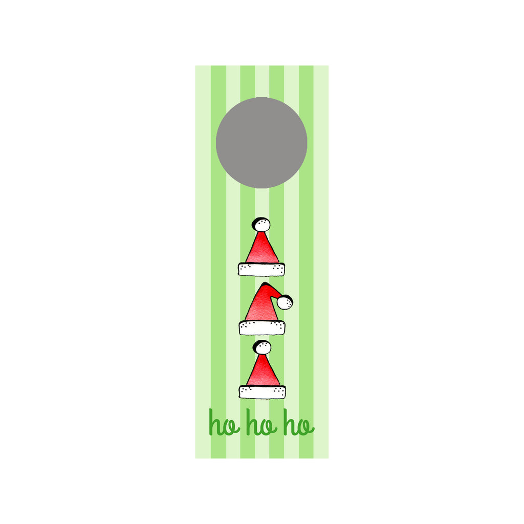 Ho Ho Hats Wine Tag