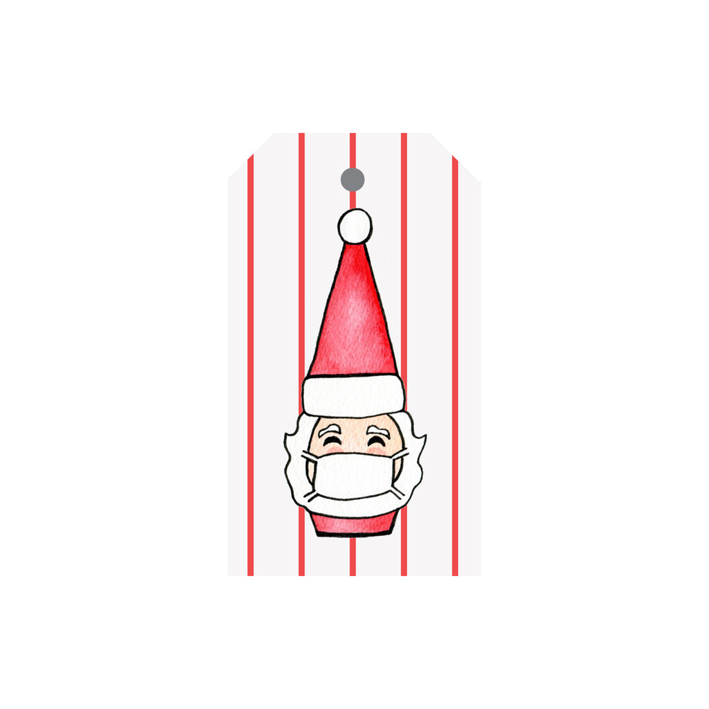 Masked Santa Luggage Gift Tags