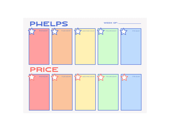 School Week Planner Notepad- Personalized