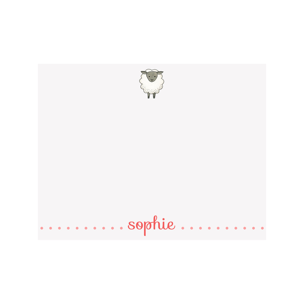 Sheep Stationery- Pink