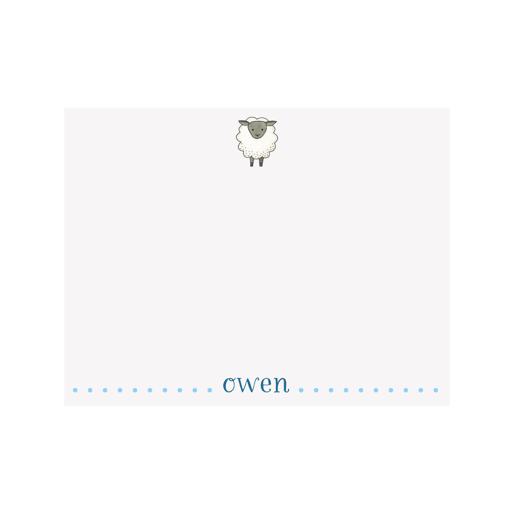 Sheep Stationery- Blue
