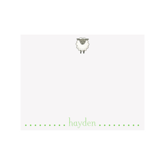Sheep Stationery- Green