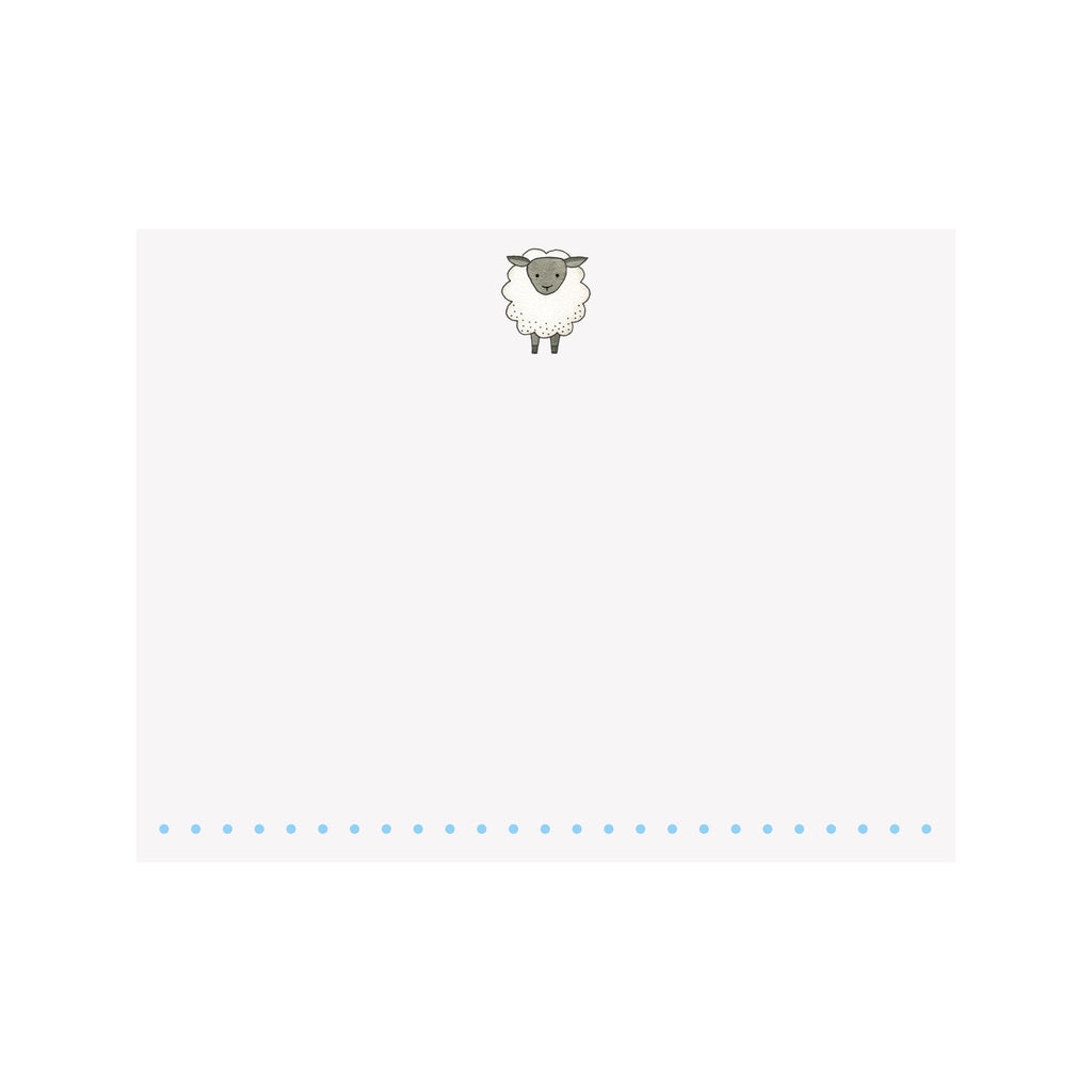 Sheep Note Card- Blue