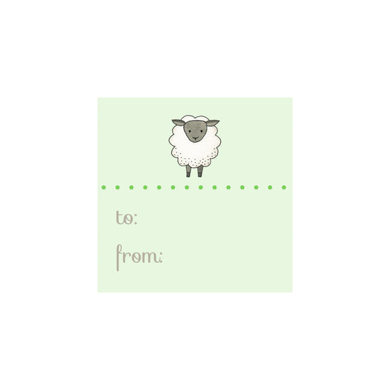 Sheep Gift Tag- Green