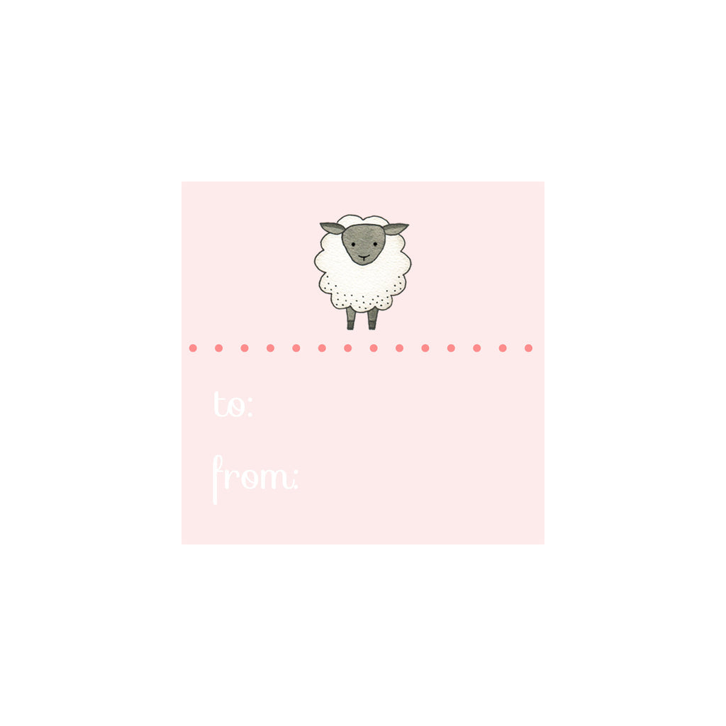 Sheep Gift Tag- Pink