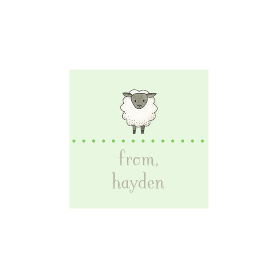Sheep Gift Tags & Stickers - Green