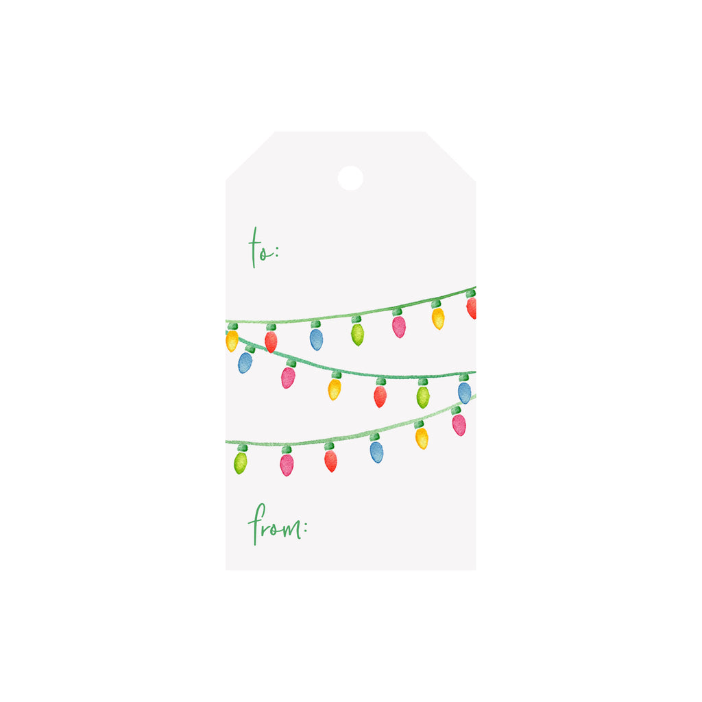 String Lights Luggage Gift Tag