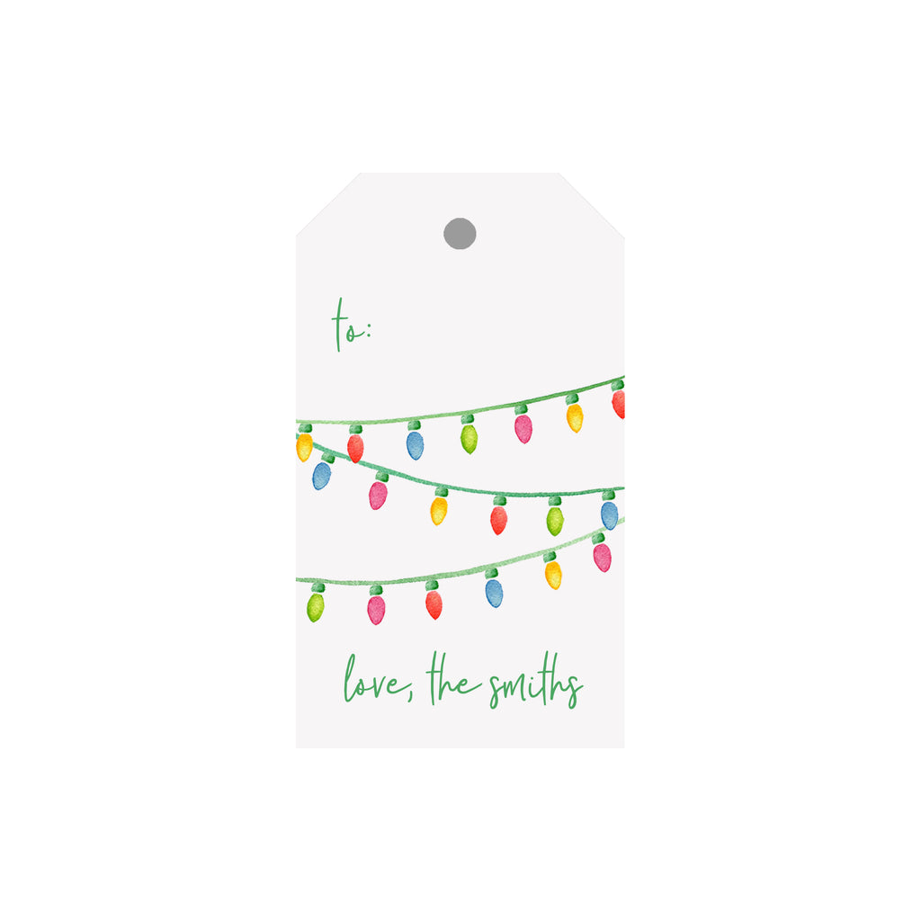 String Lights Personalized Luggage Gift Tags