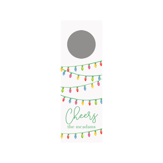 String Lights Personalized Wine Tag