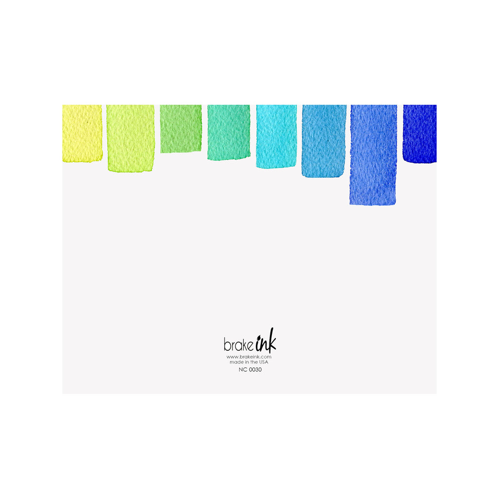 Stripe Note Cards - Ocean