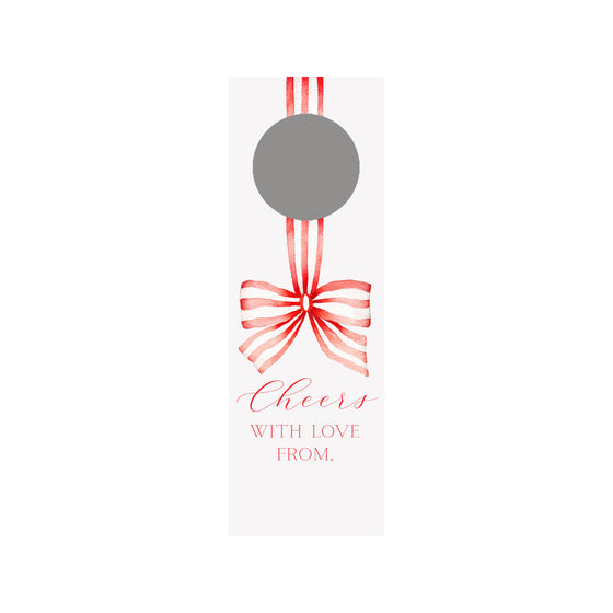 Striped Ribbon Bottle & Wine Tag