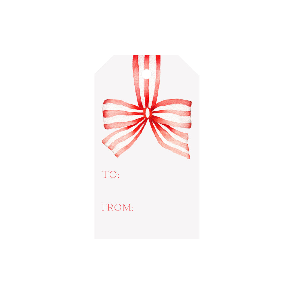 Striped Ribbon Luggage Gift Tags