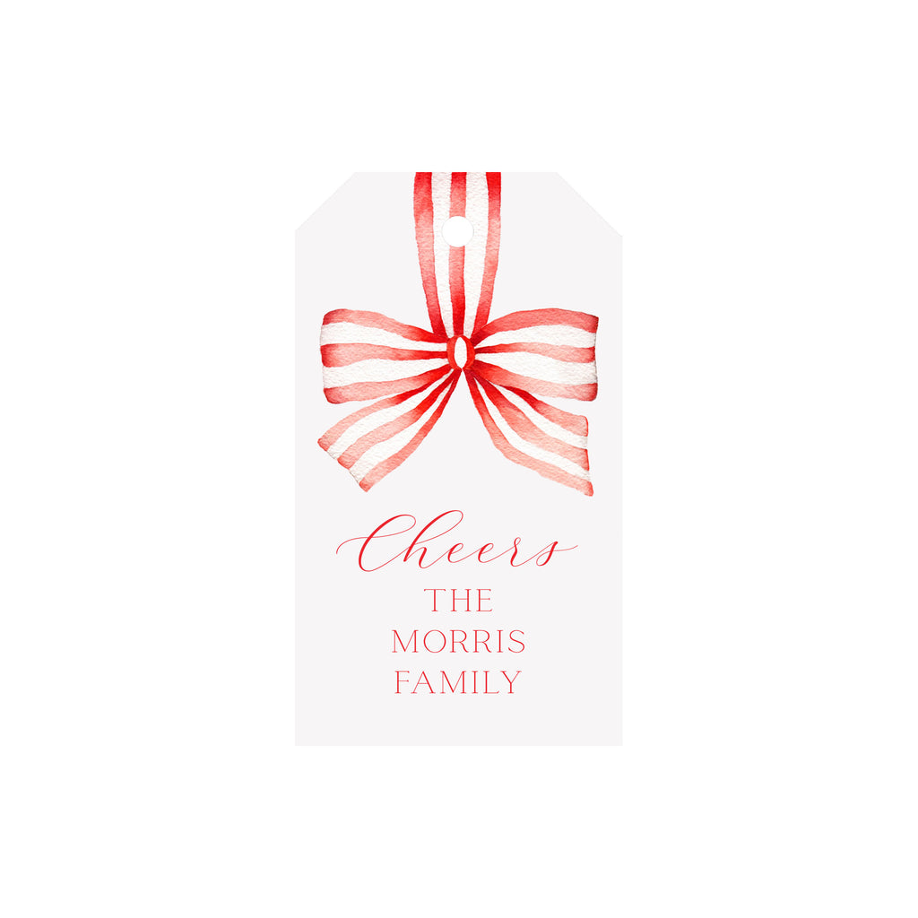 Striped Ribbon Personalized Luggage Gift Tags
