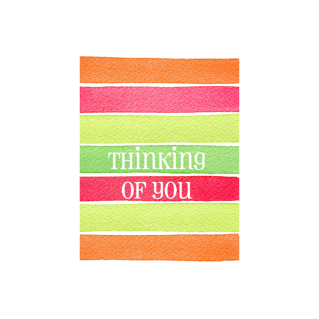 Stripe Thinking Of You Card