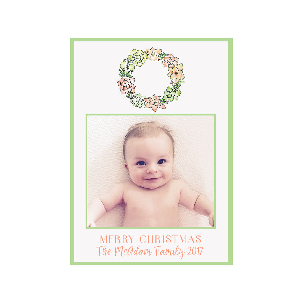 Succulent Holiday Photo Cards