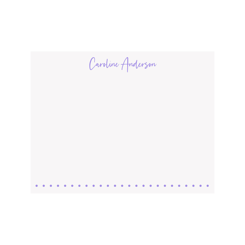 Personalized Name Stationery- Tall Script