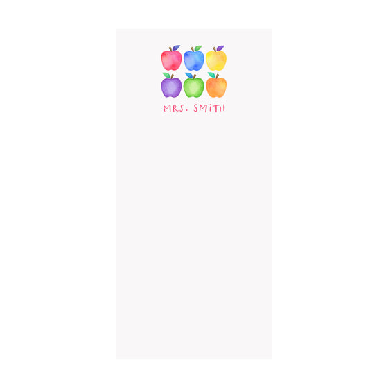 Rainbow Apples Notepad- Personalized
