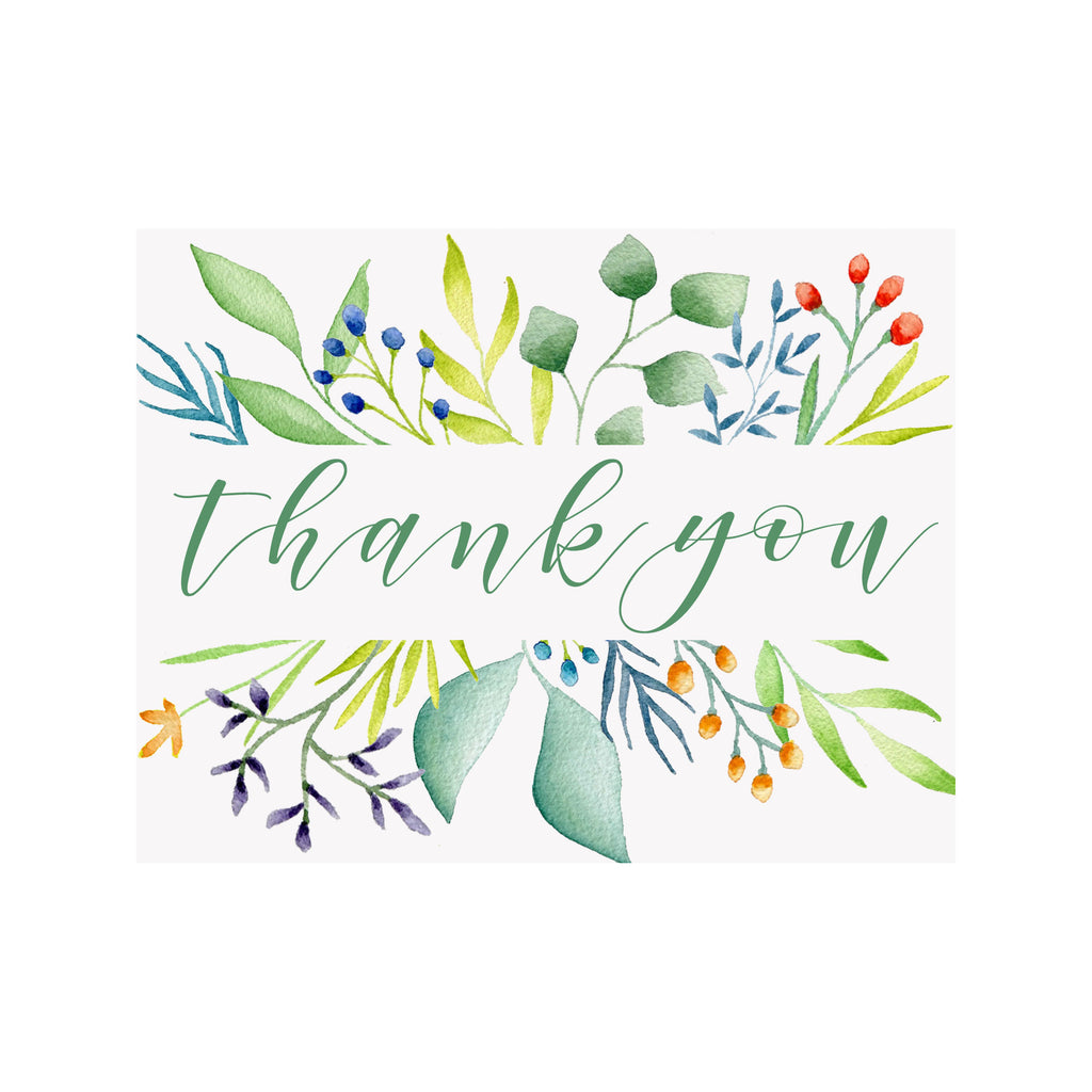 Thank you Foliage Greeting Card