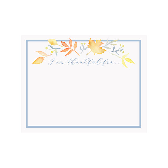 Leaves Thankful Note Card