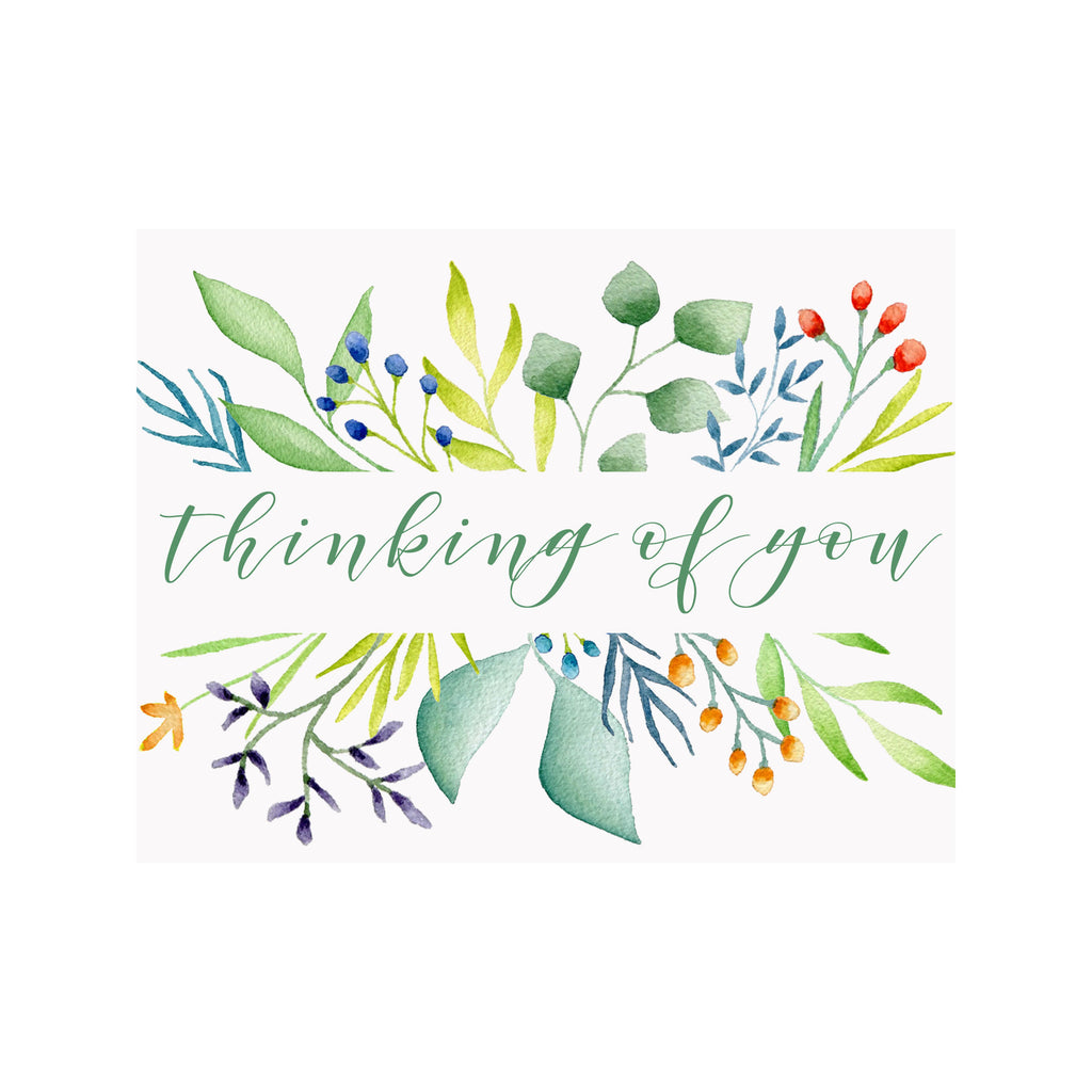 Thinking of You Foliage Greeting Card