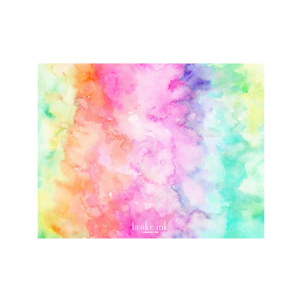 Tie Dye Monogram Stationery- Tropical