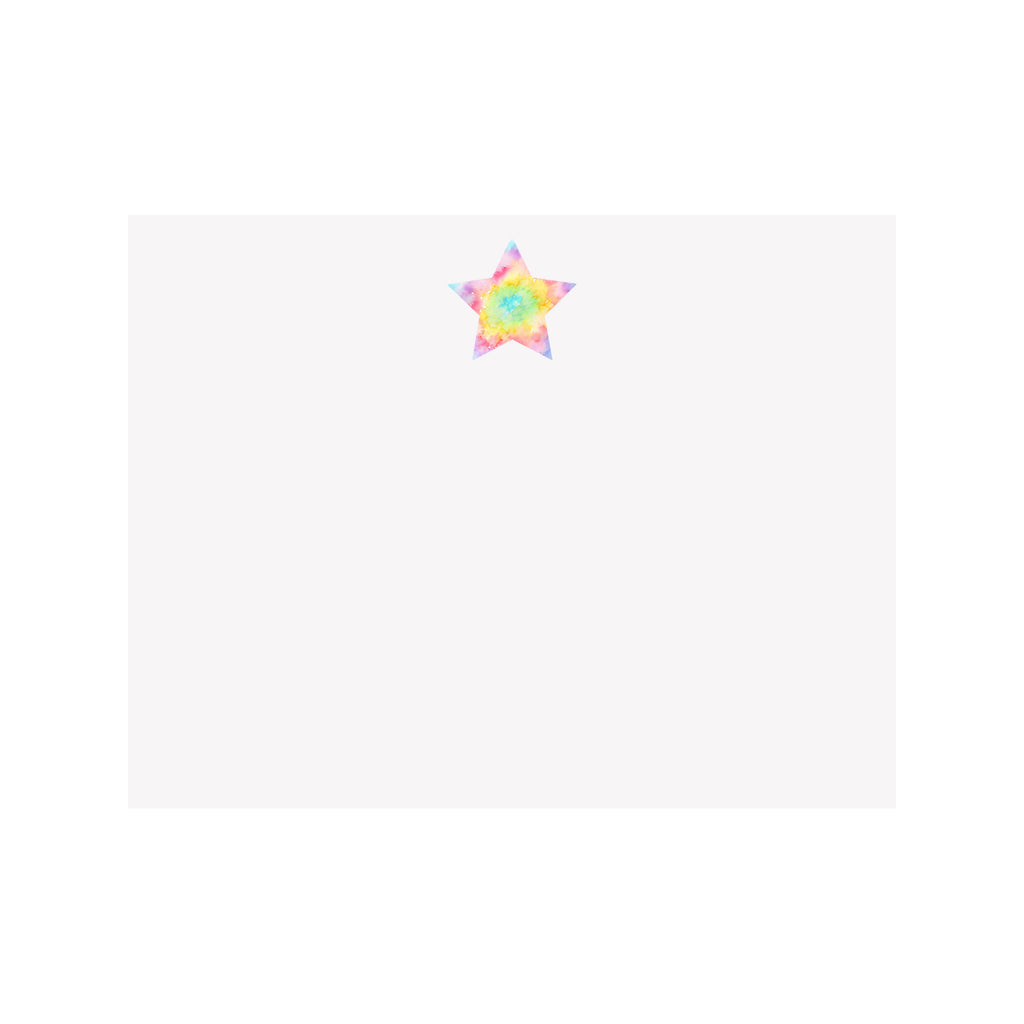 Tie Dye Star Note Card