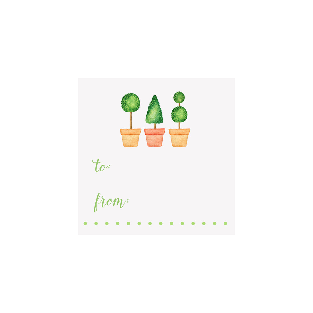 Topiaries Gift Tag