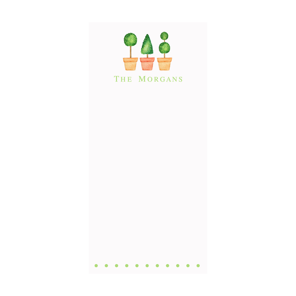 Topiaries Notepad- Personalized