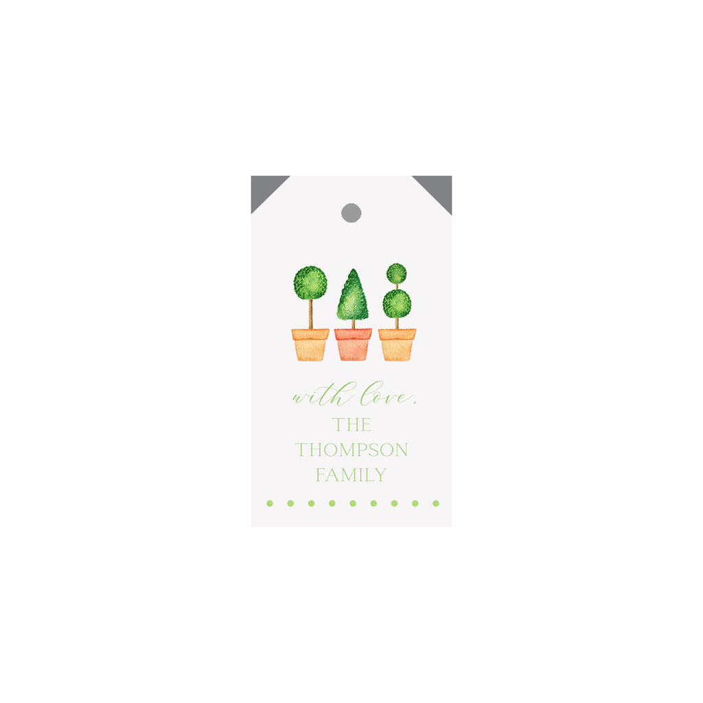 Topiaries Personalized Luggage Gift Tags