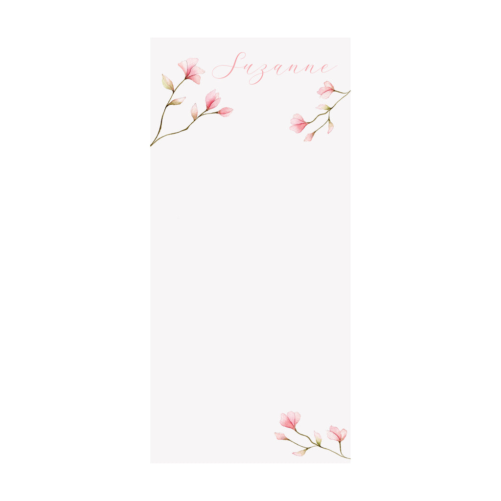 Tulip Magnolia Notepad- Personalized