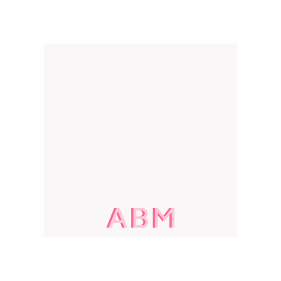 Two Tone Monogram Notepad- Assorted Colors