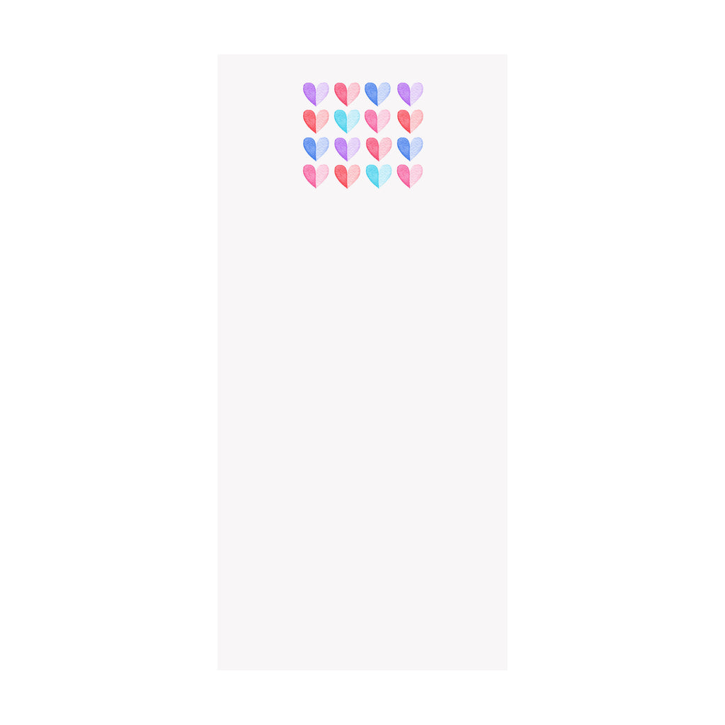 Two Tone Hearts Notepad