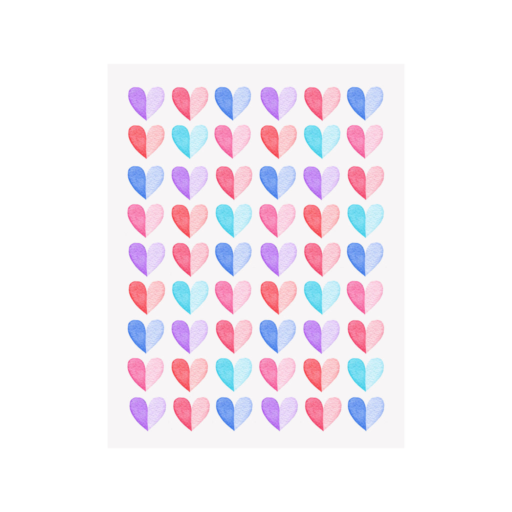 Two Tone Hearts Card