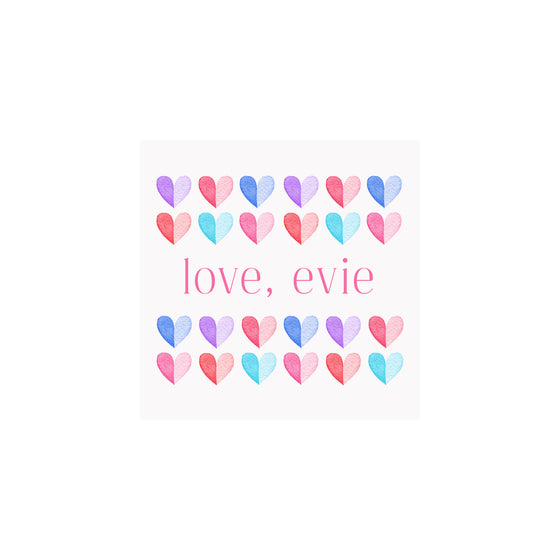 Two Tone Hearts Gift Tags & Stickers