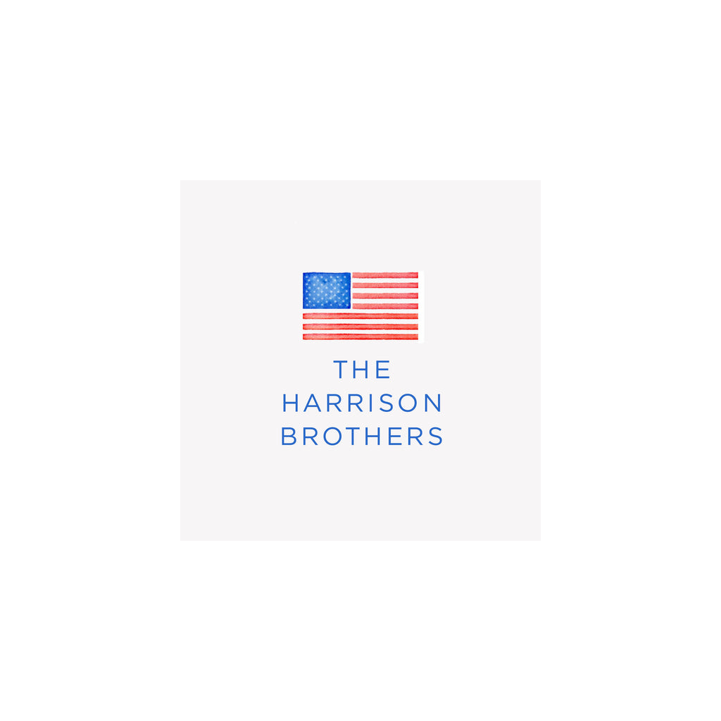 American Flag Gift Tags & Stickers