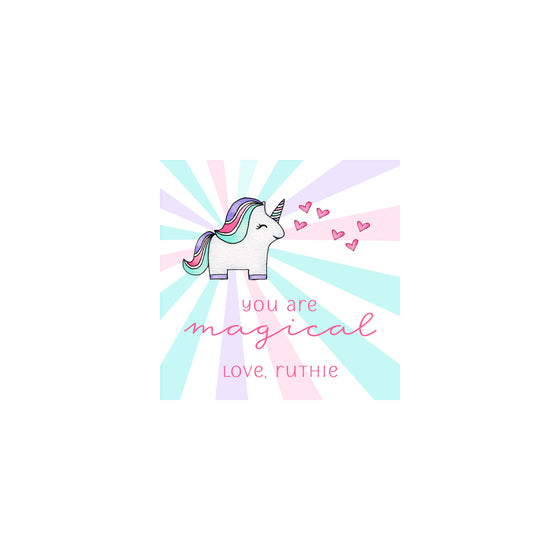Magical Unicorn Valentine Gift Tags & Stickers