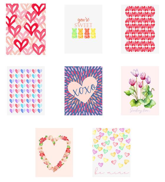 Love Notes- Assorted Valentine Note Cards