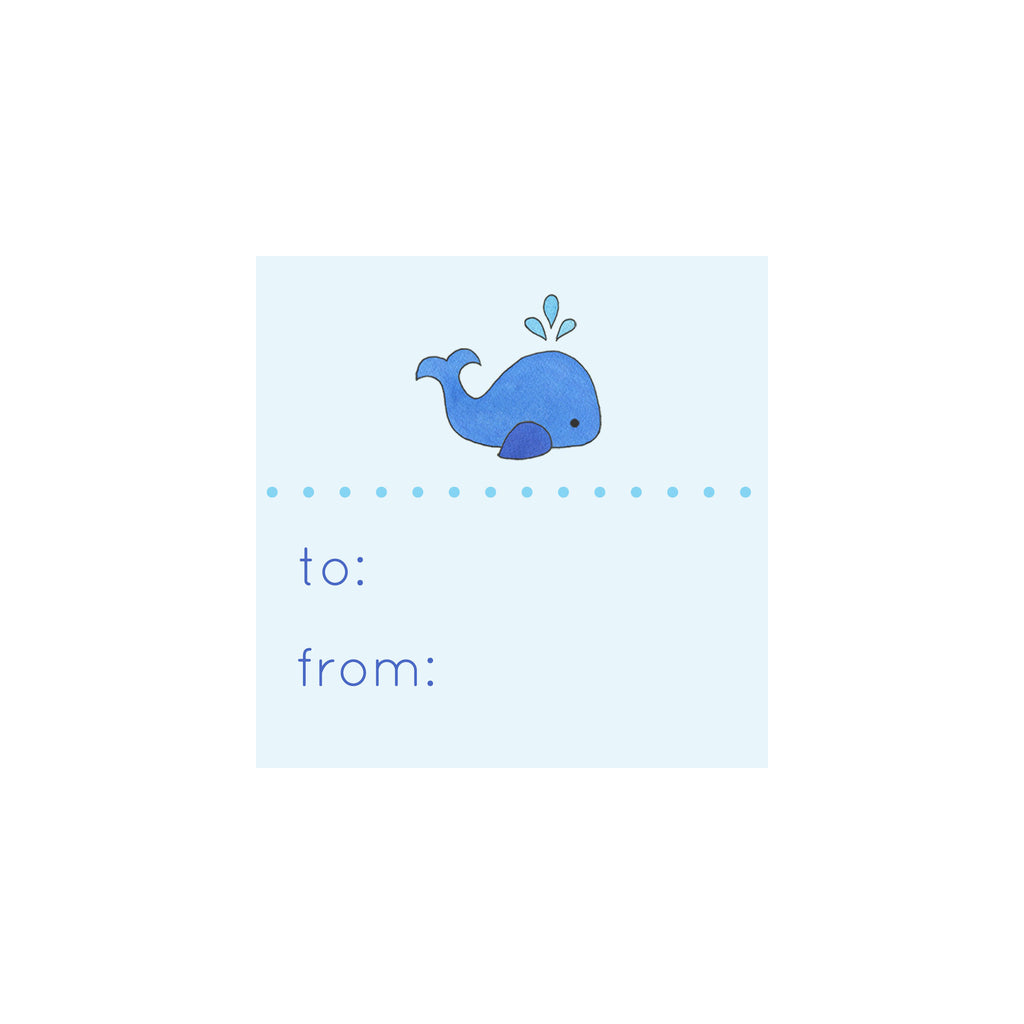 Whale Gift Tag