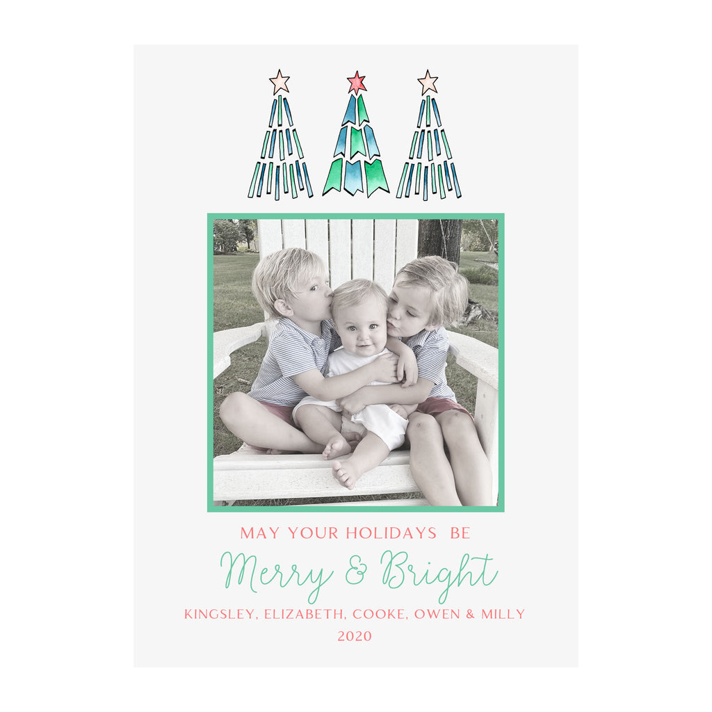 Whimsy Trees Holiday Photo Cards