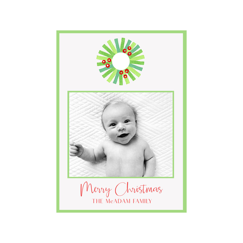 Wreath Holiday Photo Cards
