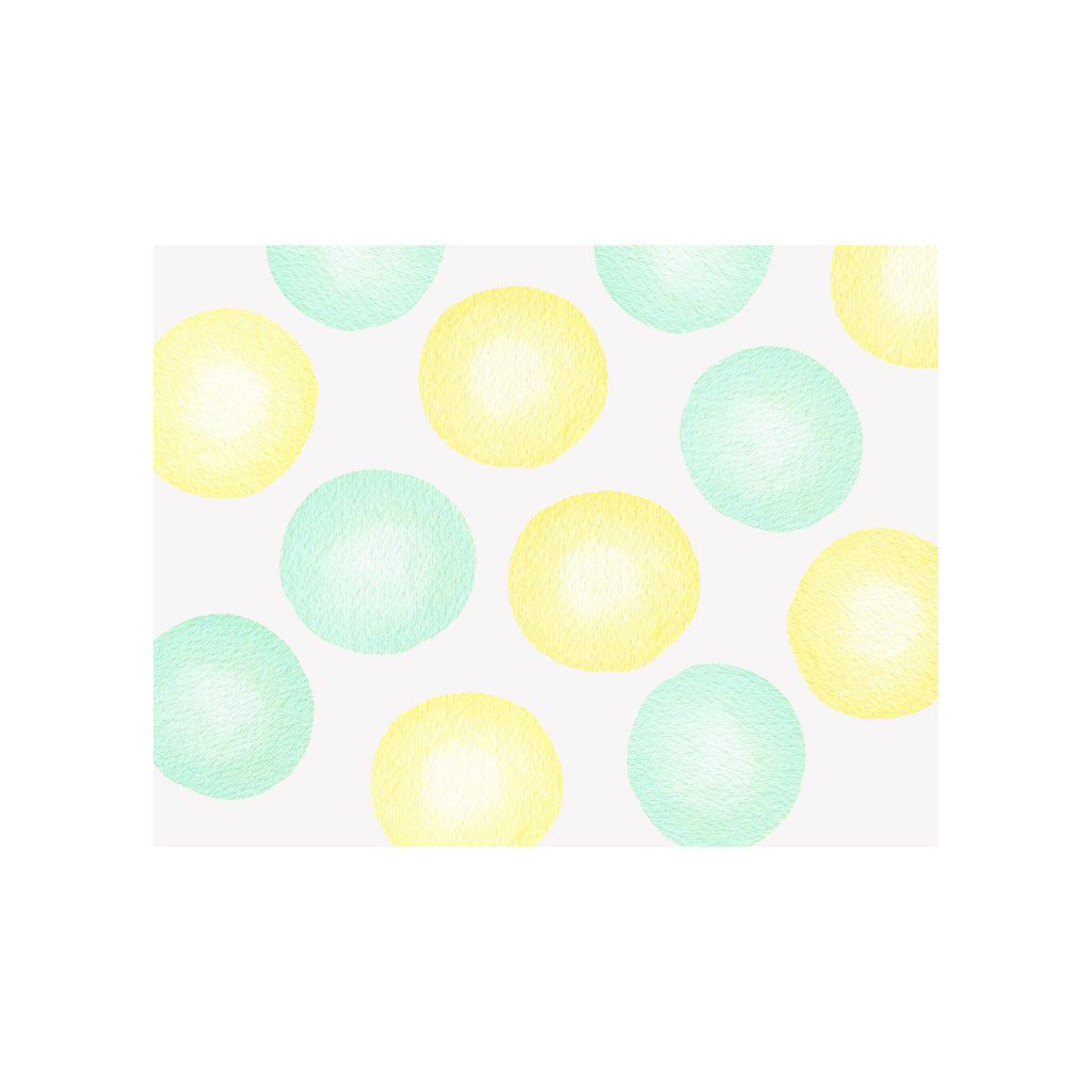 Jumbo Dots Notecard- Yellow Green