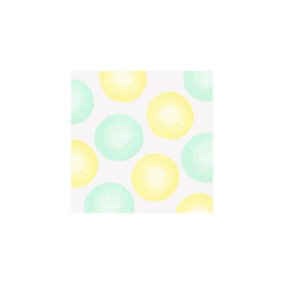 Jumbo Dots Gift Tag - Green/Yellow