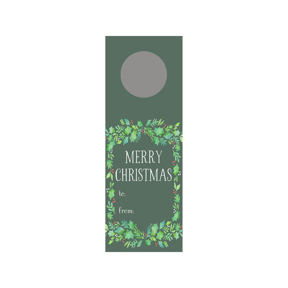 Holiday Holly Wine Tag