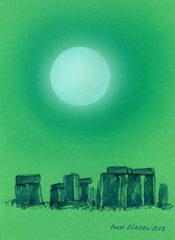 "CANCUN0030 - ""Moonrise at Stonehenge"" By Ernst Zundel"